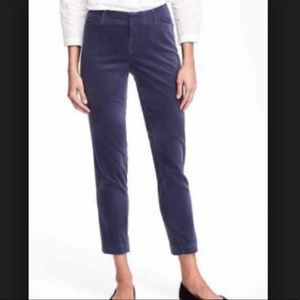 OLD NAVY Blue Velour Pixie Pants